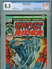 1973 MARVEL GHOST RIDER #1 1ST APPEARANCE SON OF SATAN DAIMON HELLSTROM CGC 8.5