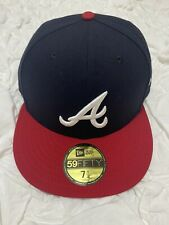 New Era MLB Atlanta Braves Home Authentic Collection On Field 59FIFTY Hat Cap