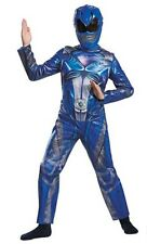 AUTHENTIC POWER RANGER BLUE RANGER CLASSIC MOVIE MUSCLE COSTUME - Size M (7-8)