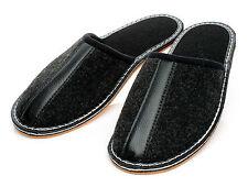 Bis Schuhgröße 50 Elegante Filz Hausschuhe Pantoffeln Gummi oder Filz Sohle NEU