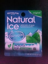 Mentholatum Natural Ice Original Lip Balm, 3 tubes