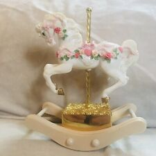 "San Francisco Music Box Company Rocking Carousel Horse ""Love Story�"