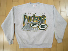 Cool! 90s vtg Green Bay Packers grey Gym Sweat Shirt football Nfl Large
