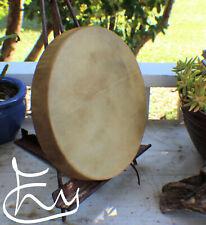 """12"""" Native American Elk hide hand Drum Cherokee made William Lattie Cert of Auth"""