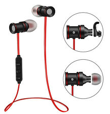 Super Bass Magnetic Metal Bluetooth Wireless Sport Headphone Earbud for Phone PC
