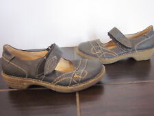 Bjorndal Cruncher Black Leather Mary Jane Oxford Shoes Womens Size 10 (A05)