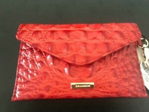 NWT Brahmin Punchy Heat(red) Melbourne BYO Embossed Leather Mask Case