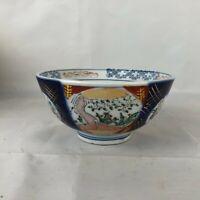Vintage Japanese Hand Painted Porcelain Imari Rice Bowl VGC