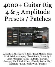 ✪ NATIVE INSTRUMENTS GUITAR RIG 5 & 4 PRO ✪ 4000+ PRESETS ✪ ARTIST AMP & EFFECTS