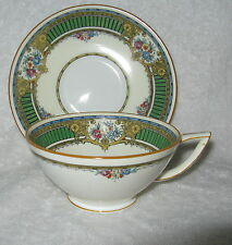 Minton B1037 Blue Band Floral Scrolls Coffee Cup(s) and Saucer(s)