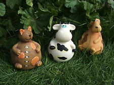 LATEX MOULD MOULDS MOLD.     3 x  CHUBBY DOG, CAT AND COW MATES.