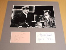Signed & Mounted Peter Cook & Dudley Moore display - Pete & Dud- C.O.A.