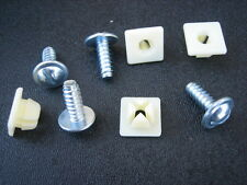 "Chrysler License Plate Screws/Nylon Nuts 2-Pair Car Dealers #14 X 5/8"""