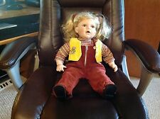 Porcelain Doll, Cloth body with porcelain hands, arms, head, neck legs, feet.