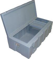 260lt B'ute Box-Tough Poly Plastic Toolbox 570mmW x 1170mmL x 400mmH - Grey- NEW