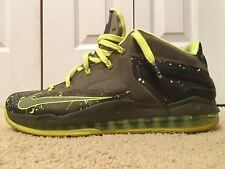 Nike Lebron 11 XI Low Dunkman Air Max, Volt Green, 642849-200, Men's Size 13