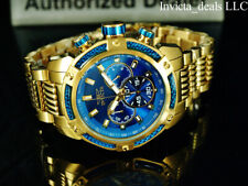 Invicta Men's 48mm Speedway VIPER Chronograph Blue Dial 18K Gold Plated SS Watch