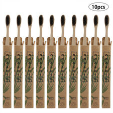 10pcs Travel Toothbrush Oral Care Soft Black Bristle Antibacterial Tooth Brushes