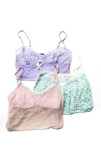 Cosabella Womens Sleep Camisole Mesh Lace Blue Pink Purple Size Large Lot 3