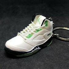 Air Jordan V 5 Retro White Green Quai 54 Q54 OG Sneaker Shoes 3D Keychain Figure