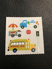 Sandylion Vintage stickers - School Bus And Ice Cream Truck Set