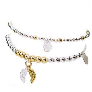 Estella Bartlett Bracelet Set of 2 Silver & Gold Beaded bracelets - Brand New