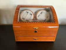 Watch Case Winder Kendall Electric Wood Display