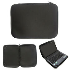 "Black 15"" Laptop Sleeve Bag Case Cover For 15.4"" 15.6"" HP Dell Acer Toshiba Asus"