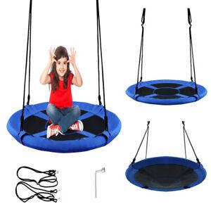 """40"""" Kids' Saucer Tree Rope Swing Seat Children Indoor Outdoor Spin Playroom Set"""