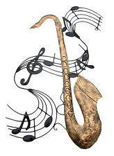 Musical Note River + SAX Metal Wall Art - Suitable for Indoor/Outdoor Use 65 cm