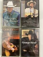 Lot Of 4 George Strait (Cassette)