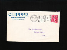 Clipper Grand Rapids Cycle Co 1899 Flag Don Bennett Carson City MI Bicycle +