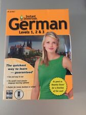 Instant Immersion CD-Rom German Language Learning - Levels 1-3 Mac/Windows