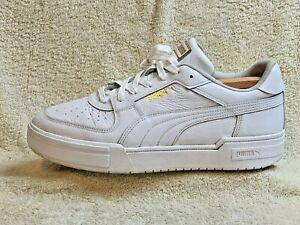 Puma CA PRO Classic mens trainers Leather White/Gold UK 11 EUR 46 US 12
