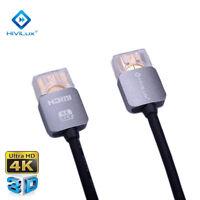 HiViLux 1m Ultra Slim UHD HDMI Kabel 2,0 Metal/Dünn/3D/4K/HDR/HighSpeed/Flexibel