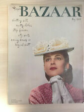 Magazine Harper's BAZAAR MAY 1944 Summer Fashions Collection Vintage Mode