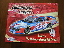 2001 Nascar Petty John Andretti Helping Hands Pit Crew Hero Fan Card