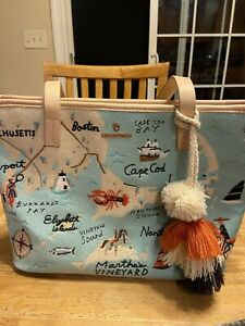 Spartina 449 Greetings From Northeastern Harbors Tote NWOT
