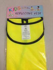 Childrens Reflective Vest Yellow HIGH VISIBILITY MEDIUM