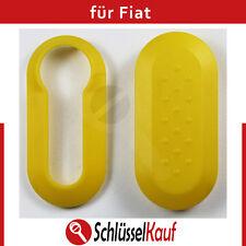 Fiat Autoschlüssel Schale Gelb Punto 500 Bravo Cover Dablo Plastik Schutzhülle