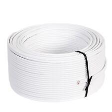 0,17€//m Boxenkabel Lautsprecherkabel High End in weiss weiß 0,75mm Rolle 100m
