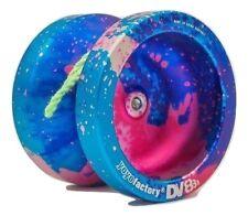 Galaxy Acid Blue Pink DV888 Responsive Metal Yo Yo YoYoFactory + 3 NEON STRINGS