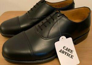 Genuine British Army Surplus Mens Parade Shoes Black Leather Toe Cap RAF Uniform