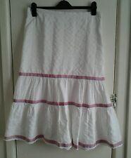 Ladies white calf length gypsy skirt. Size 12.