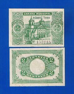 PORTUGAL - BANKNOTEN 2 CENTAVOS  C. MUNICIPAL DE SANTO TIRSO (Local Issue)  UNC