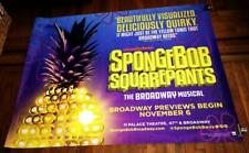 SpongeBob SquarePants The BROADWAY Musical NY 5ft SUBWAY POSTER 2017