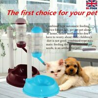 Safety Automatic Pet Water Bottle Feeder Dispenser Food Stand Cat Dog Drink