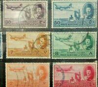EGYPTE  Lot 10 Timbres Poste Aérienne n°29 à 38 Y&T / 1947 Stamps
