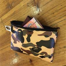 A BATHING APE Head Camo Wallet Mens Purse ID Card Bag BAPE Print Coin Money Clip
