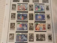 Set of 7 Disney Stamps 1981 Christmas from Grenada Cinderella, MNH